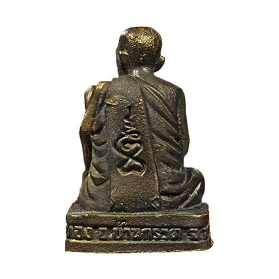 รูปหล่อหลวงปู่ผาด ชันเข่า รุ่นสร้างพระอุโบสถ ปี 54 เนื้อทองแดงรมดำ