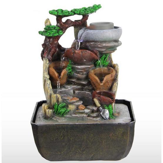 Eagocraft น้ำพุล้นเสริมฮวงจุ้ยรุ่นโม่หิน