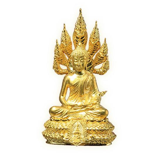 รูปหล่อพระนาคปรก ส.ธ. พิมพ์ใหญ่ เนื้อทองระฆัง สูง 3.2 ซม.