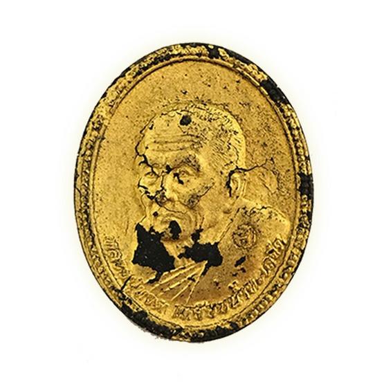 หลวงปู่ทวด เนื้อว่านดำปิดทองในพิมพ์