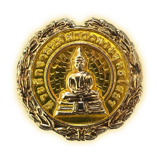เหรียญนมัสการพระพุทธโสธร เนื้อกะไหล่เงินลงยาเหลือง  ปี 59