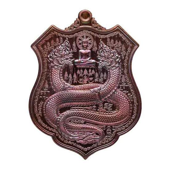 เหรียญพิมพ์อาร์ม คุ้มดวง ร่ำรวย เจ้าปู่ศรีสุทโธ ป่าคำชะโนด เนื้อทองแดงผิวรุ้ง