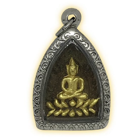 เจ้าสัวหลวงปู่เจือ เนื้อยาวาสนาจินดามณี ปิดทอง เลี่ยมกรอบสแตนเลส ปี๕๒
