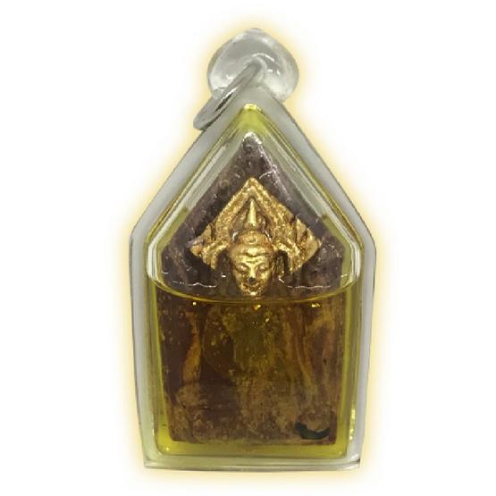 พระขุนแผนเจริญพร หน้าทอง เนื้อก้นครก องค์ครู แช่น้ำมัน