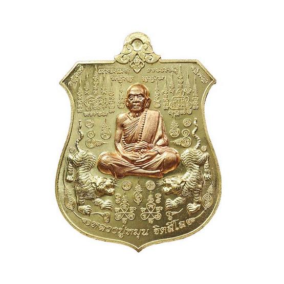 เหรียญพยัคฆ์จ้าวพยุห์ หลวงปู่หมุน เนื้อทองทิพย์ หน้ากากทองแดง