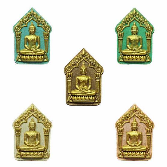 พระขุนแผนผงพรายกุมาร หลวงปู่ทิม วัดละหารไร่ ปัดทอง ชุดกรรมการ 5 องค์