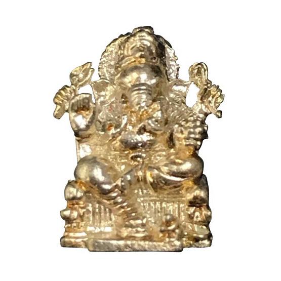 พระพิฆเนศ พรประกาศิต ลอยองค์ เนื้อทองแดงกะไหล่เงิน