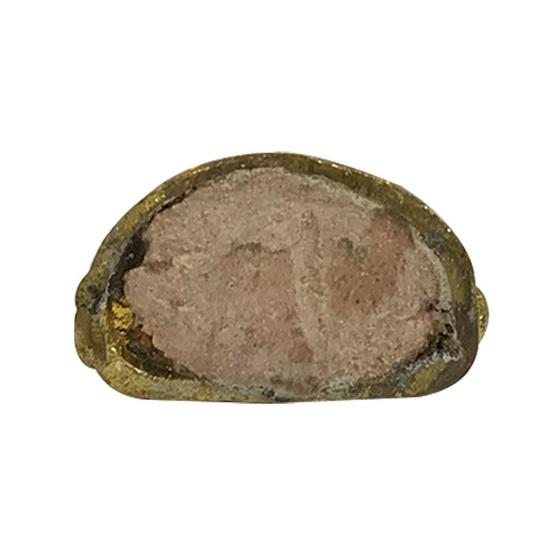 พระชัยวัฒน์พุทโธน้อย หล่อดินไทย อุดผงคุณแม่บุญเรือน เนื้อทองฝาบาตร
