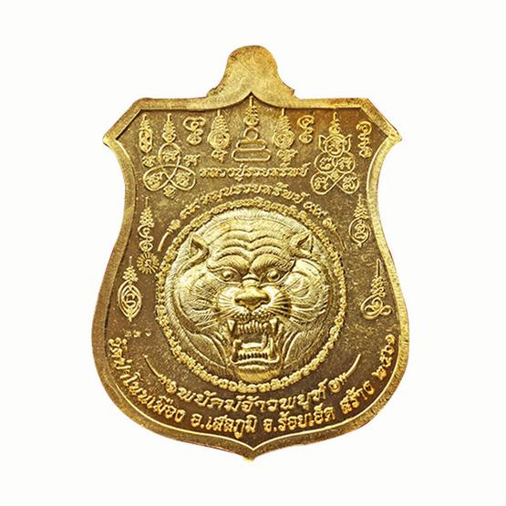 เหรียญพยัคฆ์จ้าวพยุห์ หลวงปู่หมุน เนื้อทองทิพย์ หน้าทองแดง