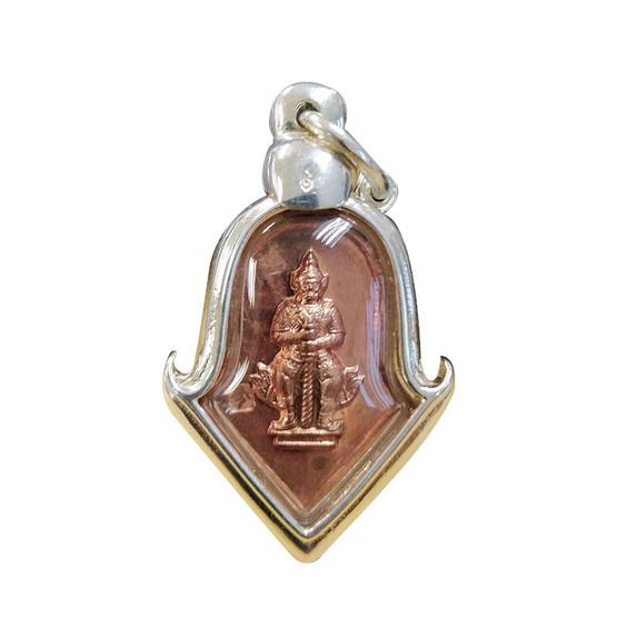 เหรียญท้าวเวสสุวรรณ จำปีเล็ก รุ่นแรก วัดจุฬามณี เนื้อทองแดง ปี52