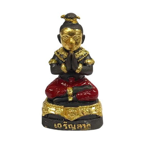 กุมารเจริญลาภ รับทรัพย์ ปิดทอง กางเกงแดง