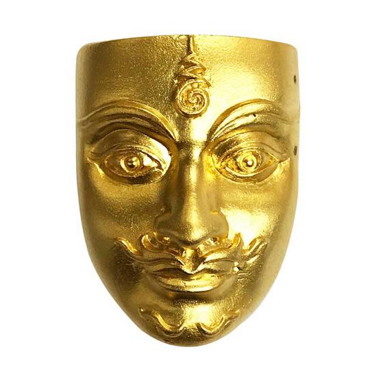 ขุนแผนเสน่ห์หน้าทอง พิมพ์ใหญ่ เนื้อสัมฤทธิ์ชุบทอง อาจารย์สุบิน นะหน้าทอง