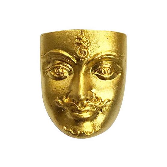 ขุนแผนเสน่ห์หน้าทอง พิมพ์เล็ก เนื้อสัมฤทธิ์ชุบทอง อาจารย์สุบิน นะหน้าทอง