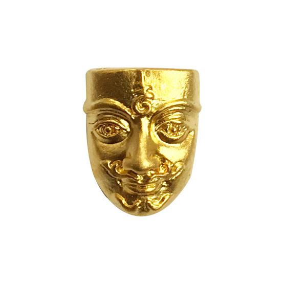 ขุนแผนเสน่ห์หน้าทอง พิมพ์จิ๋ว เนื้อสัมฤทธิ์ชุบทอง อาจารย์สุบิน นะหน้าทอง