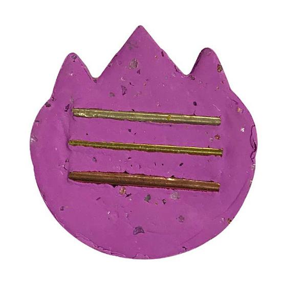 พระราหูเฮงรับทรัพย์ เนื้อผงพุทธคุณ สีชมพูปัดทอง อาจารย์สุบิน นะหน้าทอง