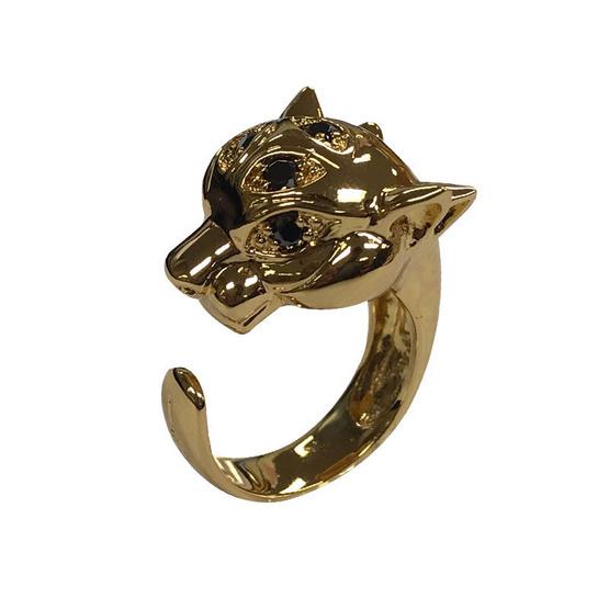แหวนพระอินทร์จำแลง สี่หูห้าตา ฝังพลอยชุบทอง อาจารย์สุบิน นะหน้าทอง