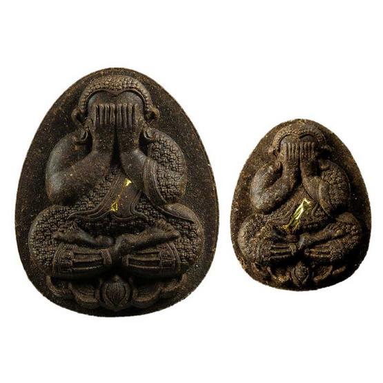 พระปิดตาเสาร์ ๕ มหาโภคทรัพย์ ชุดตะกรุดทองคำ 2 องค์ เนื้อผงเกสร