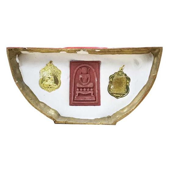 หลวงพ่อโสธร เสาร์5 ฐานแดง เนื้อทองเหลือง หน้าตัก 5 นิ้ว