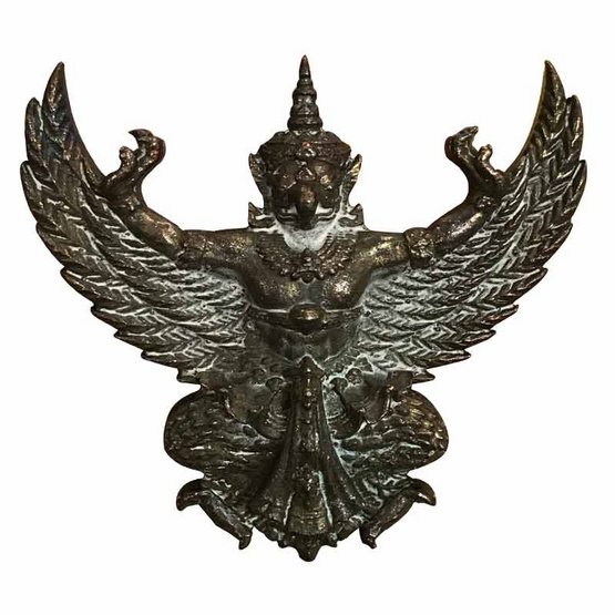 พญาครุฑ รุ่น ล้างอาถรรพ์ เสาร์ 5 มหามงคล เนื้อนวโลหะแก่ทองคำ