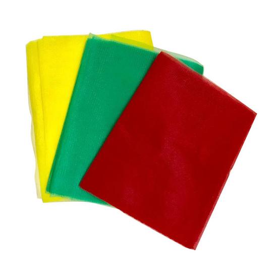 เทพพนม ผ้าแพร 3 สีใหญ่ กว้าง 9 นิ้ว ยาว 2 หลา (3 ผืน)