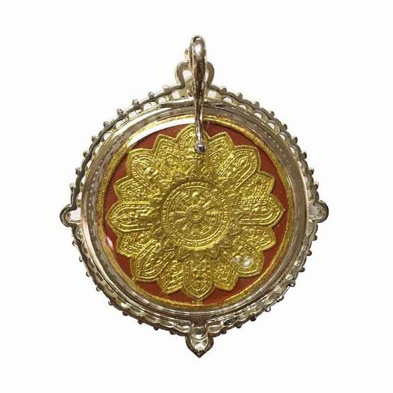 เทวสุวรรณพรหมมาสูติเทพ หลวงพ่ออิฎฐ์ วัดจุฬามณี เนื้อผง จารมือ เลี่ยมกรอบศิลป์อู่ทอง