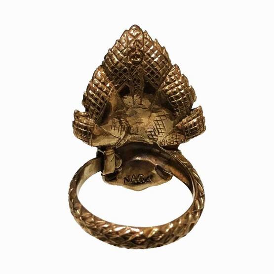 แหวนพญานาคราช5เศียร ปรับขนาดไซส์ เนื้อบรอนซ์ ศิลป์อู่ทอง