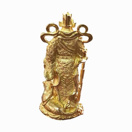 เทพเจ้าไฉ่ซิงเอี๊ย เทพเจ้าแห่งโชคลาภ วัดเล่งฮกยี่  เนื้อทองเหลือง สูง 3 นิ้ว