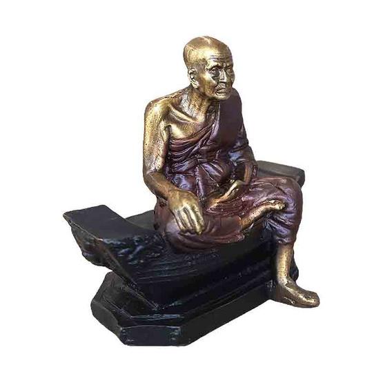 พระบูชา หลวงปู่ทวด เหยียบน้ำทะเลจืด เนื้อชนวนโลหะซาติน หน้าตัก 1.5 นิ้ว
