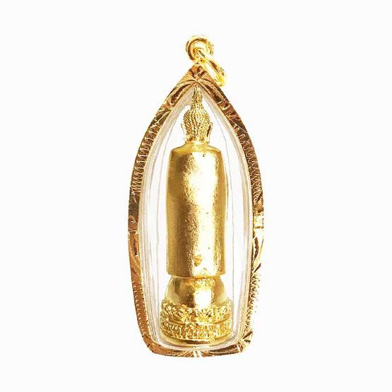 หลวงพ่อโต วัดอินทรวิหาร เนื้อกะไหล่ทอง สูง 1.5 นิ้ว เลี่ยมกรอบทองไมครอน