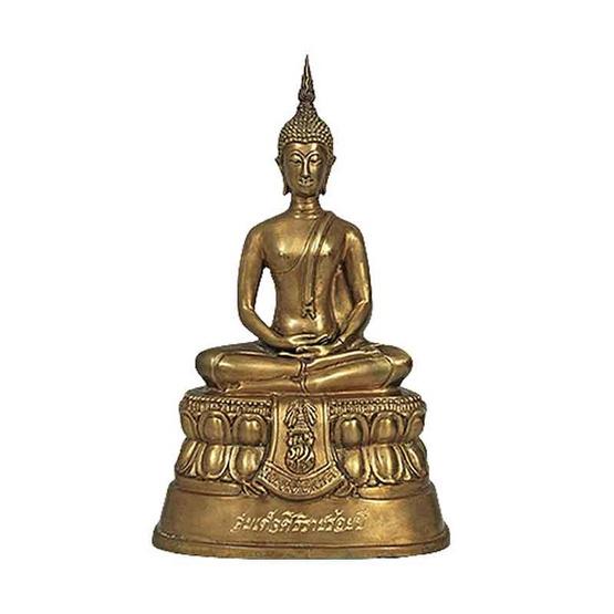 พระบูชา สมเด็จศิริราชร้อยปี รมดำอ่อนใบมะขาม หน้าตัก 5 นิ้ว