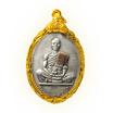 เหรียญย้อนยุคบารมี 19 ทองแดงเงินพดด้วง ติดผ้าจีวร