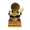 รูปหล่อพระพิฆเนศ พรประกาศิต เนื้อทองเหลืองลงสีดำปิดทอง