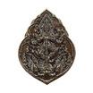 เหรียญท้าวเวสสุวรรณ (หลังเรียบจารมือ) เนื้อทองแดงรมดำขัดเงา