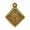 เหรียญพญานาคราช หลังดวงเมือง พิมพ์จิ๋ว เนื้อกะไหล่ทอง