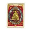 เหรียญรูปไข่ หลวงปู่หมุน ไตรมาส 61 เนื้อตะกั่วไม่ตัดปีก หน้าทองฝาบาตร ลงยาแดง ตอกโค้ด 9 รอบ