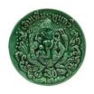 พระสังกัจจายน์ พระพิฆเนศวร รุ่น รวยสะใจ เงินเพิ่ม พูนทวี เนื้อกระเบื้องเคลือบ สีเขียว พิมพ์ใหญ่