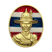 เหรียญสมเด็จพระเจ้าตากสินมหาราช เนื้อโลหะชุบทองลงยาลายธงชาติ