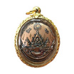 เหรียญหลวงปู่ทวด อภิเมตตามหาโพธิสัตว์ เนื้อทองแดงนอกพิมพ์ใหญ่ ปี 57  เลี่ยมกรอบสำริดบรอนซ์ชุบทองลายฉลุ